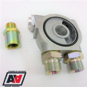 Mocal Oil Cooler Hi Flow Sandwich Plate With 80 deg Thermostat 1/2 BSP Adaptors
